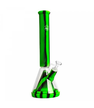 """LIT Silicone LIT Silicone 14"""" Beaker w/Glass Chamber & Pull-Out"""