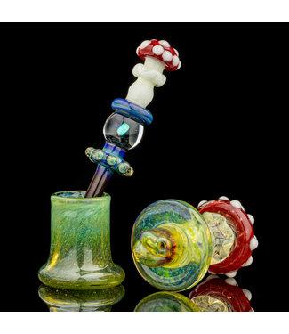Eckardt Glass Eckardt Glass Mushroom Carb Cap / Dabber Set