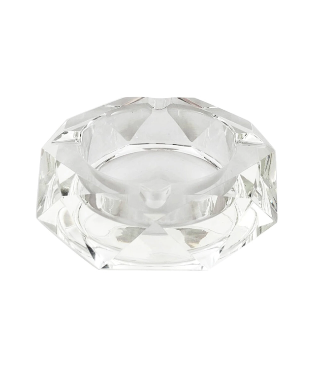 Glass Crystal Ashtray - Star Anise