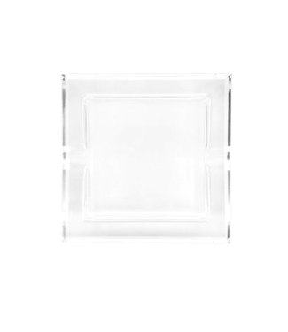 Glass Crystal Ashtray - Straight Square