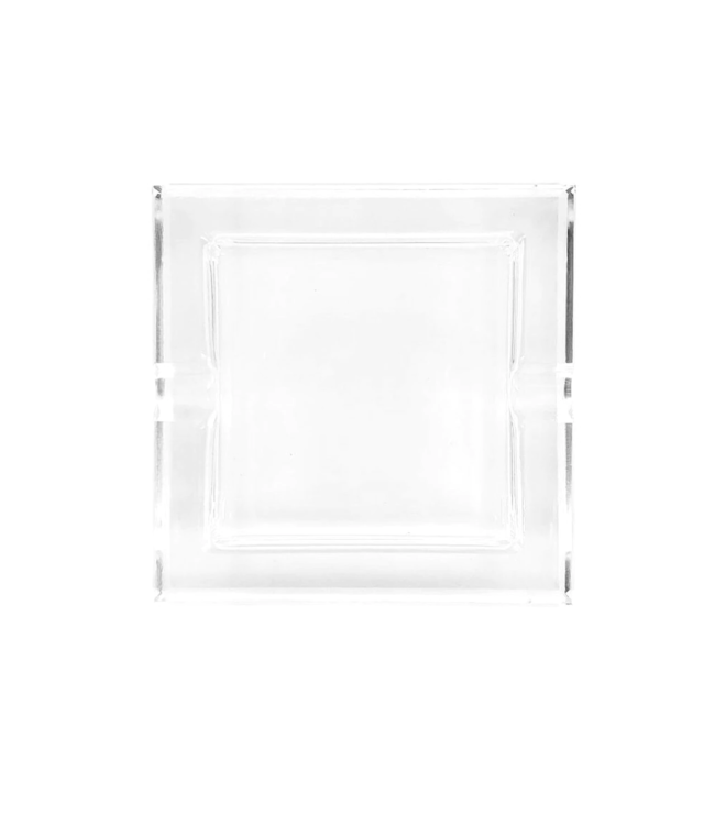 Glass Crystal Ashtray - Straight Square