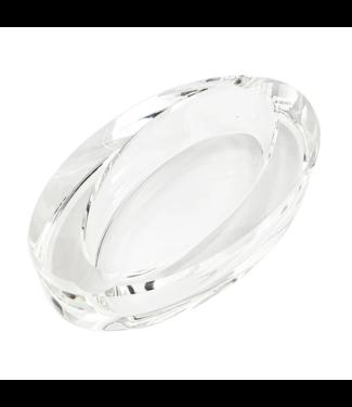 Glass Crystal Ashtray - Oval Slant
