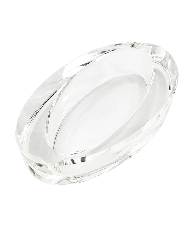 Glass Crystal Ashtray - Oval Slant