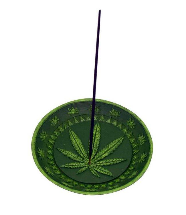 """Round Leaf Incense Burner 5"""""""