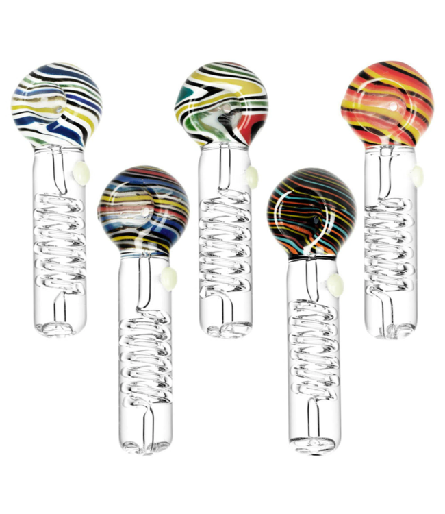 """Pulsar Pulsar 5"""" Glycerine Coil Spoon Pipe Assorted Colours"""
