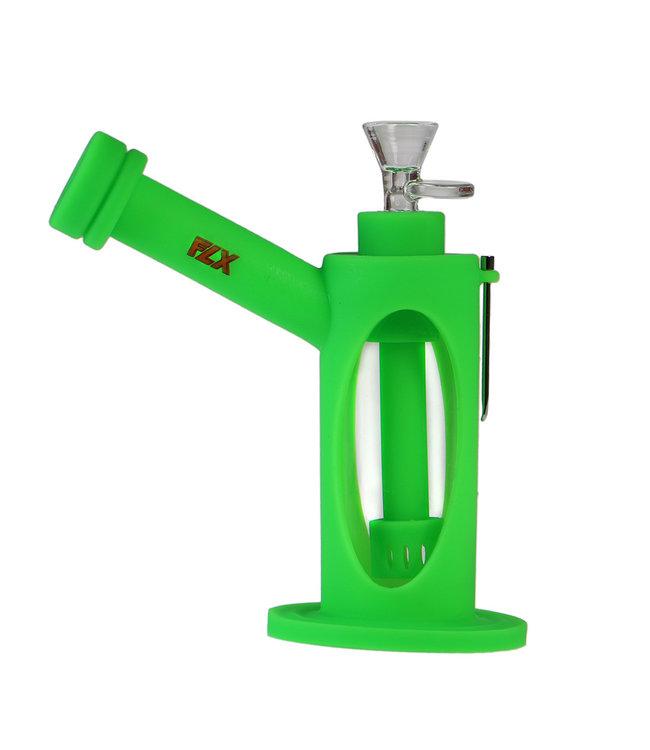 "FLX 7"" Silicone Alternator Bong Green"