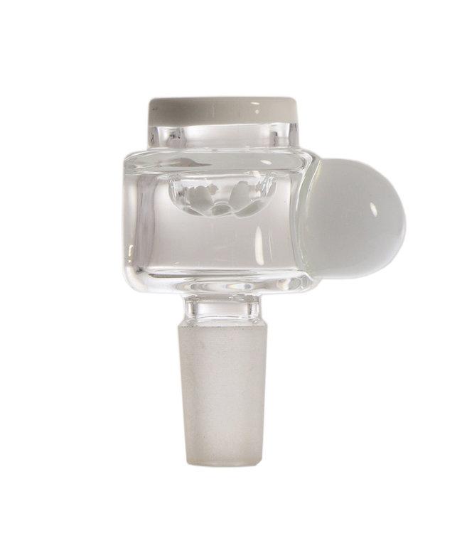 Hydros Hydros Screen Bowl, 14mm, White & Clear
