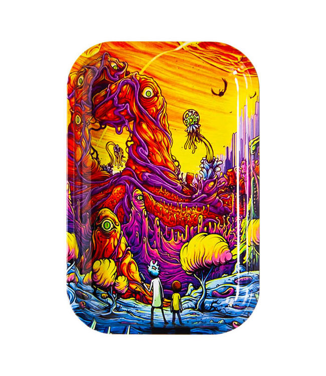 "Rick & Morty Rolling Tray Alien World Medium 11"" x 7.5"""