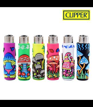 Clipper Clipper Refillable Lighter w/ Mushrooms Cover