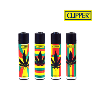 Clipper Clipper Refillable Lighter Reggae Leaf