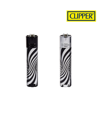 Clipper Clipper Metal Refillable Lighter Psychedelic Silver