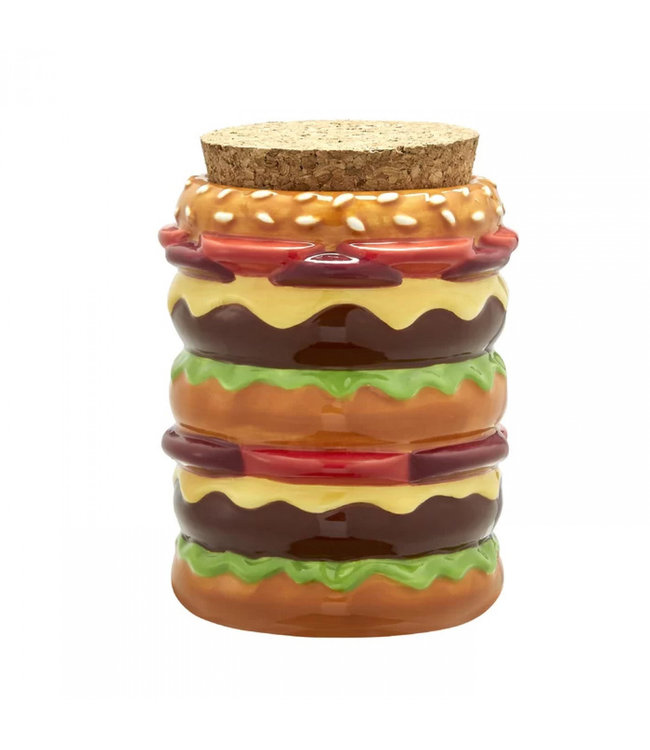 Cheeseburger Ceramic Stash Jar