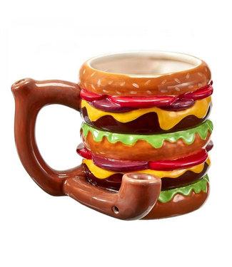Cheeseburger Ceramic Mug Pipe