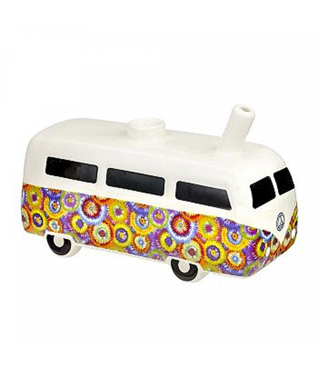 "Vintage Bus 7.5"" Flower Power Ceramic Pipe"