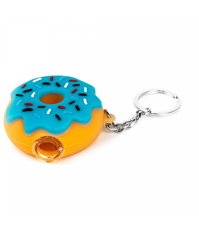 """LIT Silicone LIT Silicone 2.25"""" Donut Keychain Pipe"""