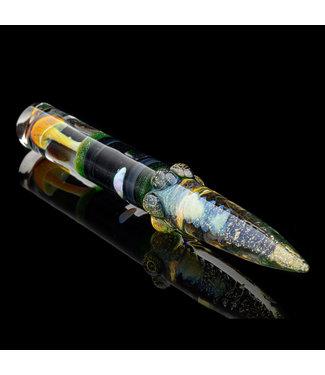 "Eckardt Glass Eckardt Glass 4"" Mushroom Dabber w/ Opal"