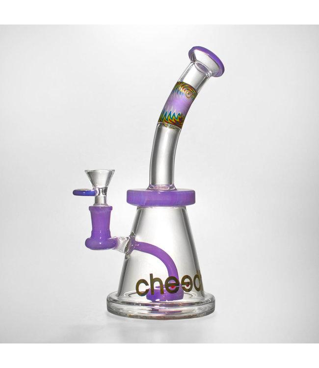 "Cheech Glass Cheech Glass 11"" Swirly Dream Water Pipe Pink 14mm"