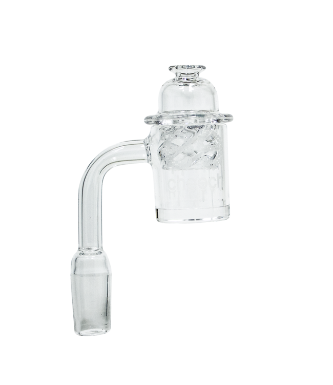 Cheech Glass Cheech Glass Quartz Banger w/ Vortex Carp Cap & Terp Beads 14mm Male 90°