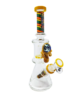 "Cheech Glass Cheech Glass 11"" Honey Drip Dual Chamber Beaker Rasta"