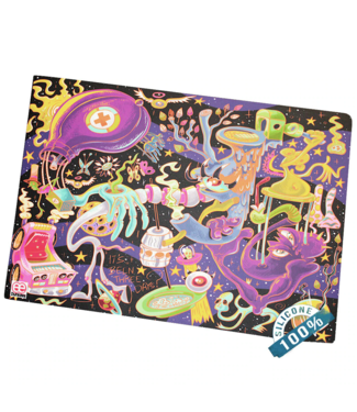 """Dunkees Dunkees 11"""" x 17"""" Silicone Dab Mat Three Days"""