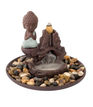 Buddha Backflow Cone Incense Burner w/ 20-Pack Cones