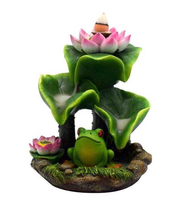 Frog & Lily Pad Backflow Incense Burner