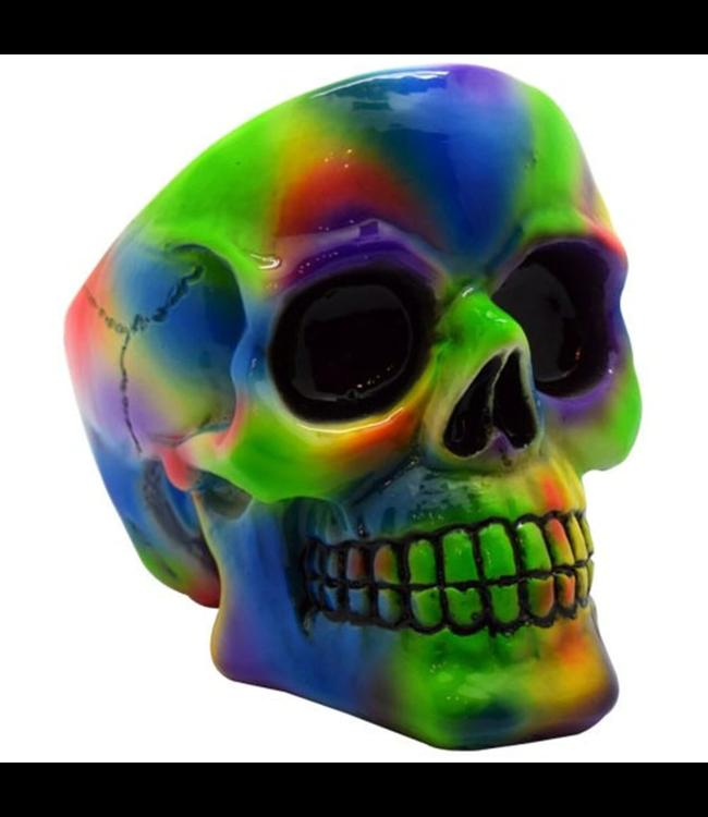 Tie Dye Skull Ashtray