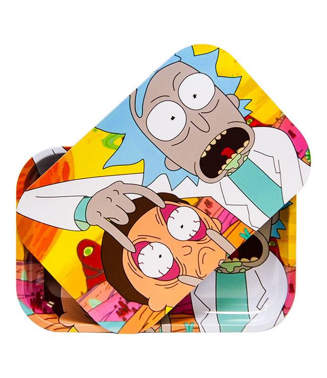 "Rick & Morty Rolling Tray w/ Lid Eyes Medium 11"" x 7.5"""