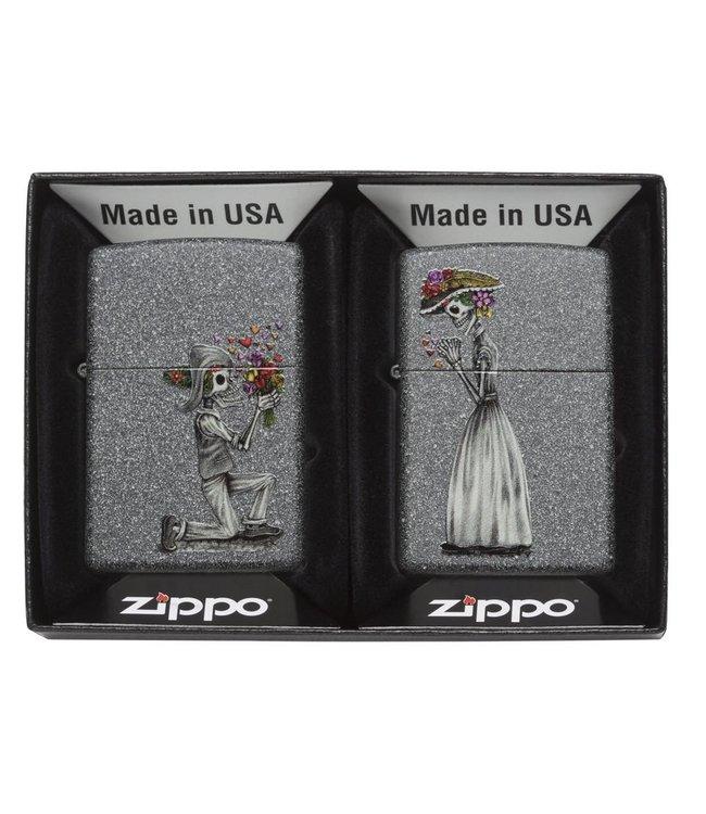 Zippo Zippo Lighter 2-Piece Gift Set Wedding Couple Iron Stone