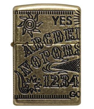 Zippo Zippo Armor Lighter Ouija Board Antique Brass