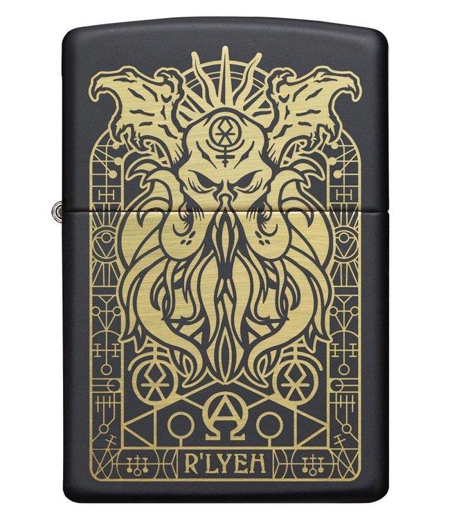 Zippo Zippo Lighter Lovecraft Cthulhu Black Matte