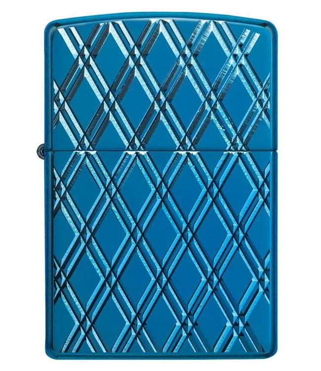 Zippo Zippo Armor Lighter Blue Diamonds High Polish Blue