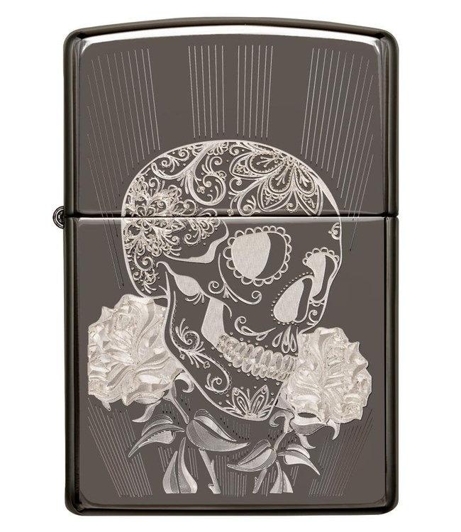 Zippo Zippo Lighter Fancy Skull Black Ice