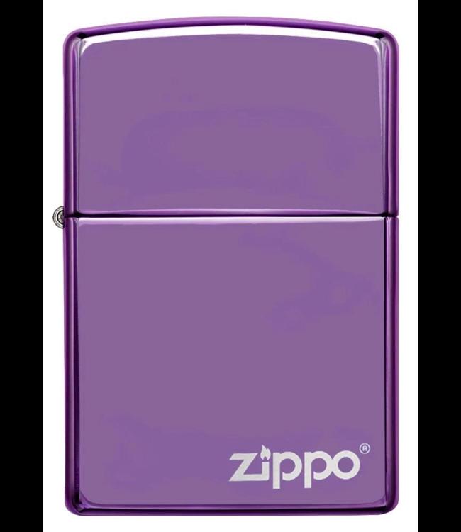 Zippo Zippo Lighter Abyss High Polish Purple w/ Logo