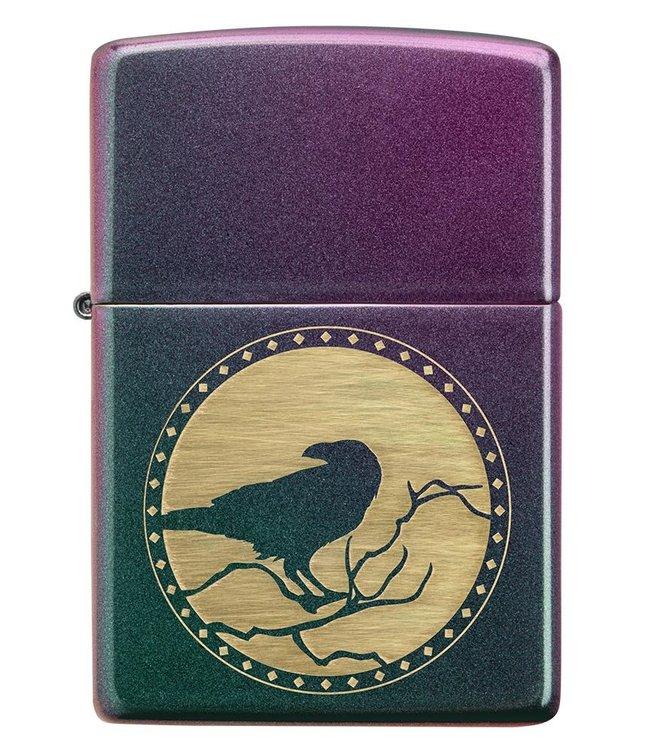 Zippo Zippo Lighter Moon Raven Iridescent
