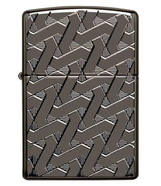 Zippo Zippo Armor Lighter Geometric Weave Black Ice
