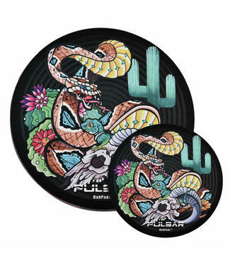 "DabPadz DabPadz x Pulsar 5"" Round Fabric Top 1/4"" Psychedelic Rattlesnake"