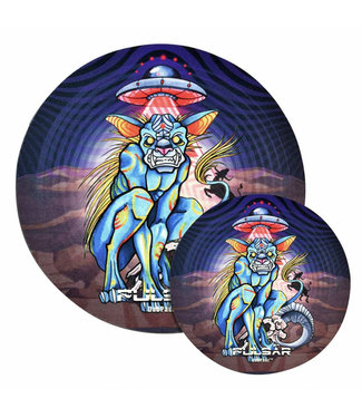 "DabPadz DabPadz x Pulsar 5"" Round Fabric Top 1/4"" Psychedelic Chupacabra"