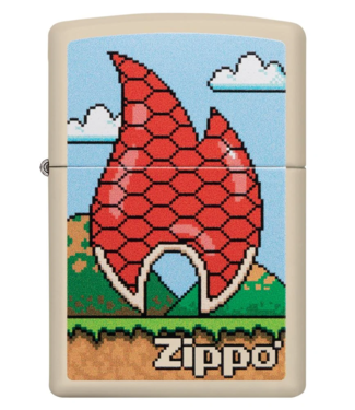 Zippo Zippo Lighter Turtle Flame 8 Bit Design