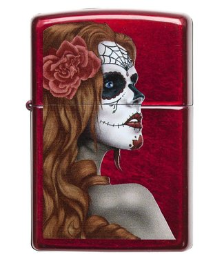 Zippo Zippo Lighter Day of the Dead Candy Apple Red