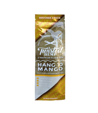 Twisted Hemp Twisted Hemp Wraps 2-Pack Hang 10 Mango