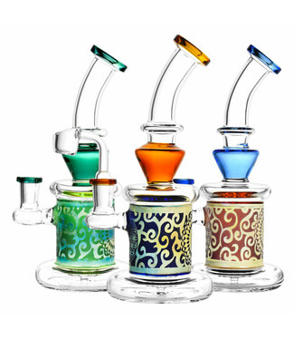 """Pulsar Pulsar 9"""" Sacred Geometry Etched Dab Rig Assorted Colours"""
