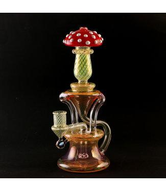 Eckardt Glass Eckardt Glass Double Uptake Mushroom Recycler
