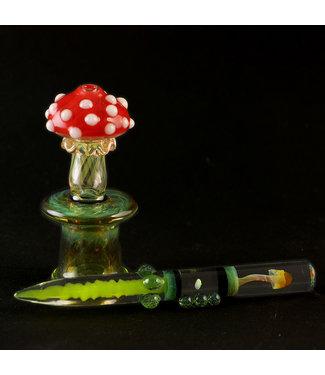 Eckardt Glass Eckardt Glass Mushroom Spinner Cap Set