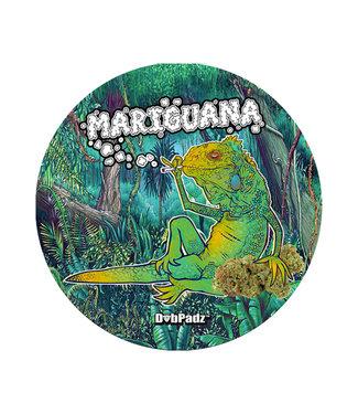"""DabPadz DabPadz 5"""" Round Fabric Top 1/4"""" Thick - Mariguana"""