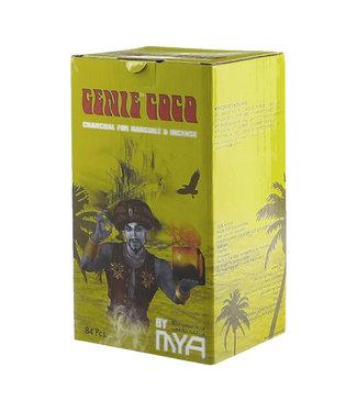 MYA Genie Coco Hookah Charcoal Cubes 84-Pack (Yellow Box)