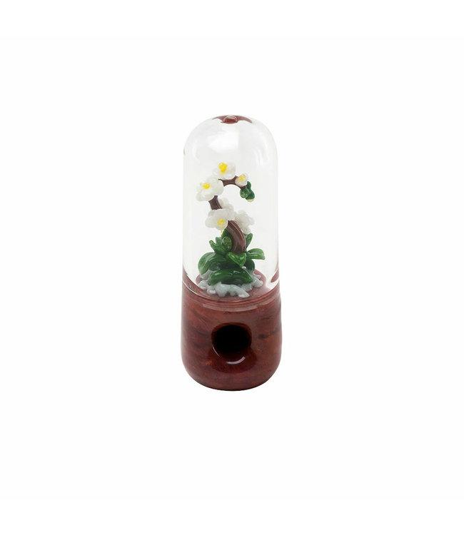 """Empire Glassworks Empire Glassworks 4.5"""" White Orchid Pipe"""