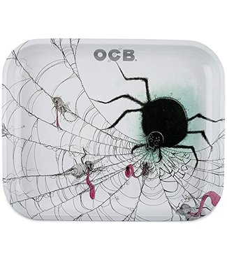 "OCB OCB 14"" x 11.5"" Large Metal Rolling Tray - Spider"
