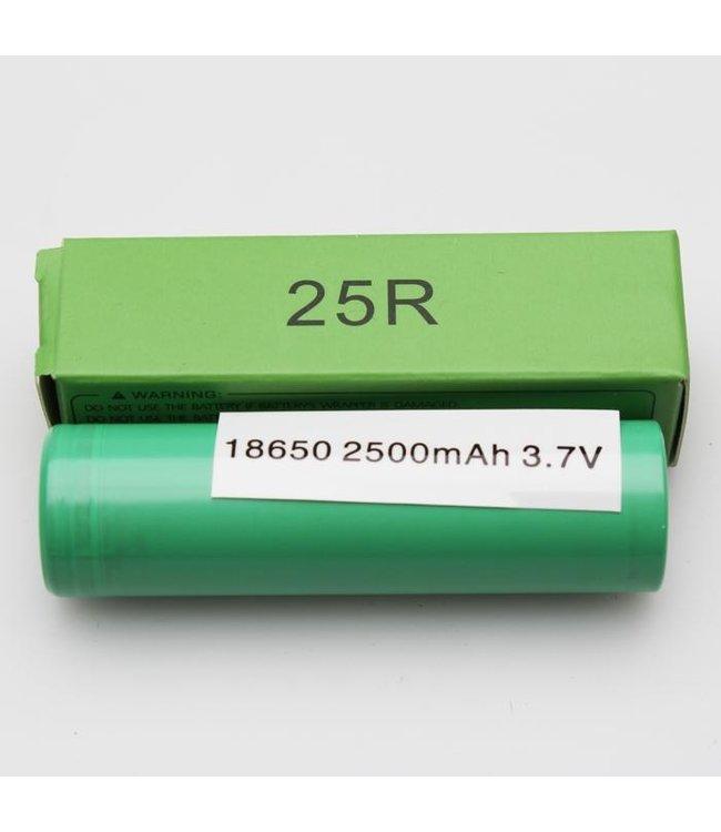 18650 Battery 2500mAh 20A 3.7v Green