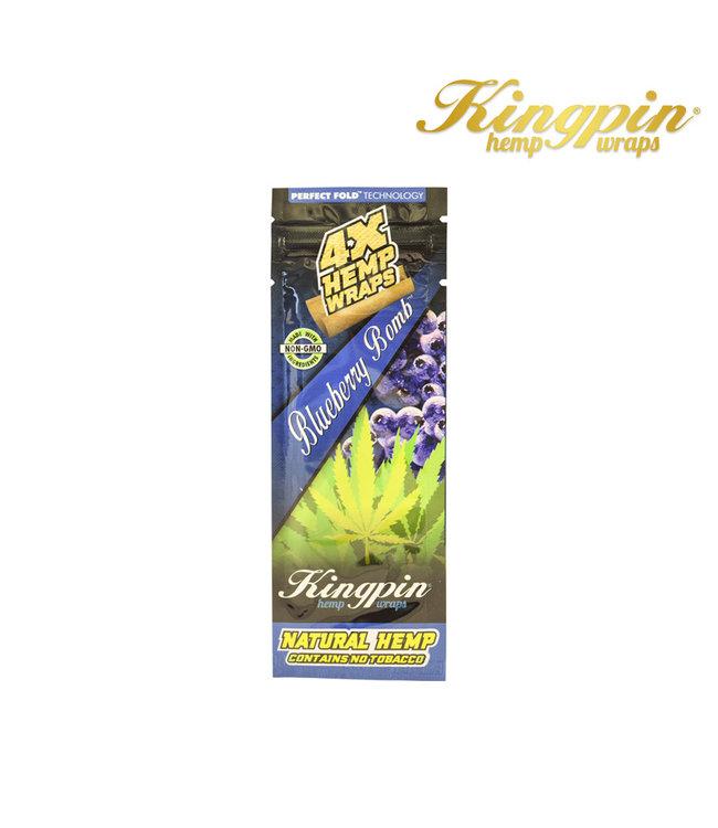 Kingpin King Pin Hemp Wraps 4-Pack Blueberry Bomb